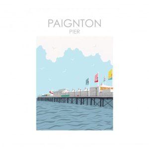 PAIGNTON PIER DEVON ART PRINT A4/ A3/ A2