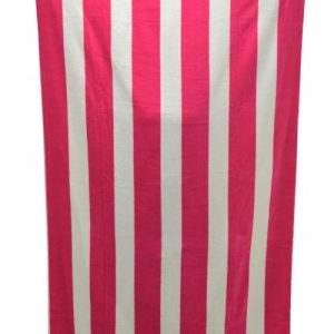 Jumbo Cabana Stripe Beach Towels (Pink/White)