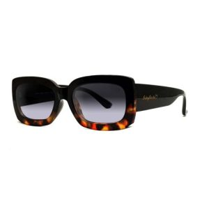 'Laura Abby' Sunglasses In Black & Tort Sunglasses