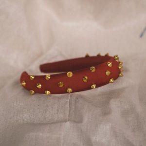 Roxy Gold Spike Headband – Red