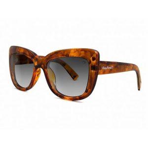 Tortoiseshell 'Cannes' Angled Cateye Sunglasses