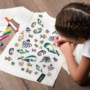 Sea Creatures Colour In Top - SeaCreatures Colouring 600x600 1 500x500