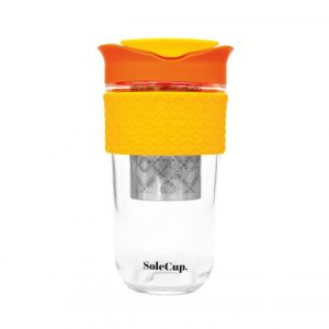 SoleCup large travel cup with loose tea infuser