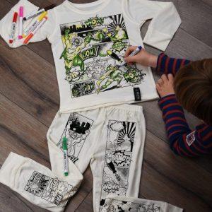 Superhero Comic Colour In Pyjamas - SuperheroComic PJs 500x500