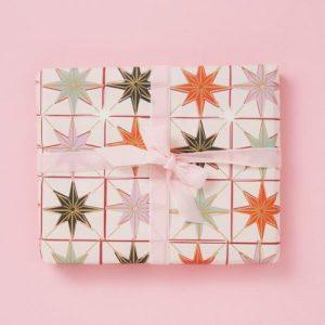 Stars Pink – Christmas Gift Wrap