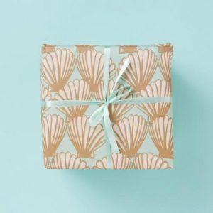 Sea Shells Mint – Gift Wrap