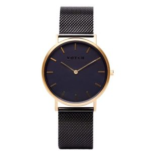 Gold & Black With Black | Mesh Classic Watch