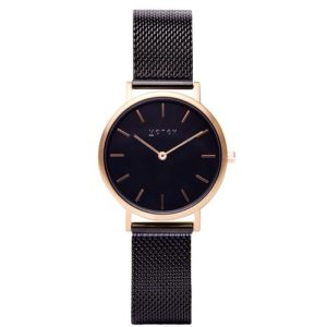 Gold & Black With Black | Mesh Petite Watch