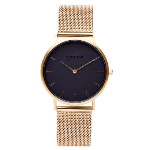 Gold & Gold With Black | Mesh Classic Watch