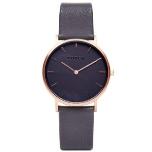 Rose Gold & Dark Grey with Black Watch