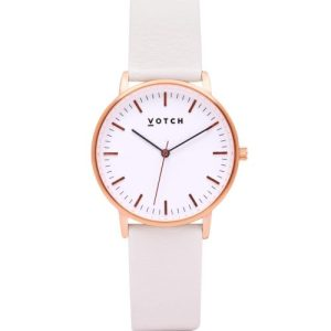 Rose Gold & Off White | Moment Watch