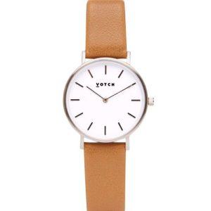 Silver & Tan   Petite Watch