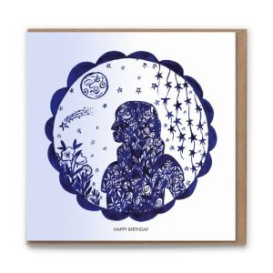 Happy Birthday Florence Blank Greetings Card Luxury & Eco conscious