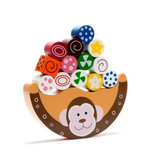 Fair trade, handmade wooden Monkey Balancing toy - Wooden monkey balancing toy 500x500