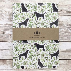 Black Labrador A5 Lined Notebook - black a5 main1 scaled 1 500x500