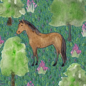 Mustang Horse blank greeting card - brown horse lifestyle2 500x500