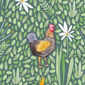 Chicken blank greeting card - chicken card2 500x500