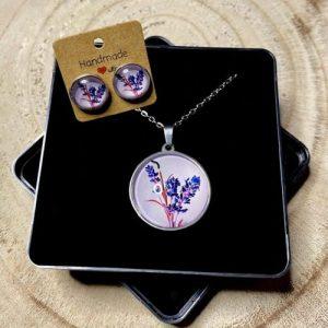 "Stainless steel Earrings & Necklace set ""Lavender pink"" - dee9f962 c83e 4304 b3a3 5e20de272e7c 500x500"