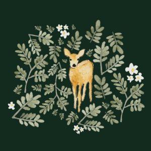 Deer blank greeting card - deer 500x500