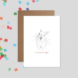 easter bunny - happy easter card - bamber prints