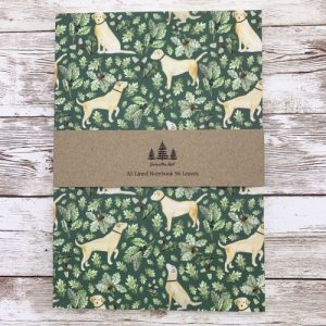 Golden Labrador A5 Lined Notebook - gold a5 main scaled 1 500x500