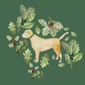 Golden Labrador blank greeting card - golenlabinsta 500x500