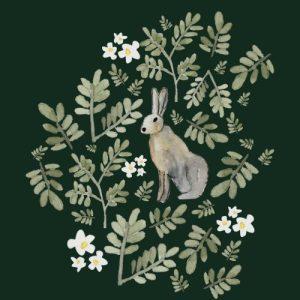Rabbit blank greeting card - hare 500x500
