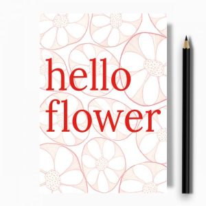 Hello Flower Greeting Card – Case of 10