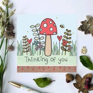 Flossy Teacake Toadstool Thinking of you Woodland Card - il 794xN.2501289139 h3lw 500x500