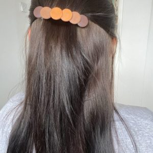 Autumn polymer clay hair clip