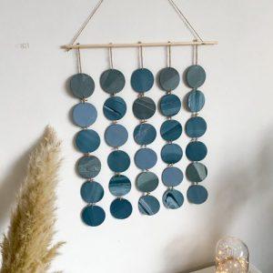 Large handmade wall hanging galaxy discs