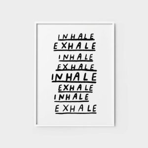 Quote Wall Art Print | Inhale, Exhale - inhale exhale2 500x500