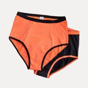 Organic Period Underwear Black: HIGH WAISTED