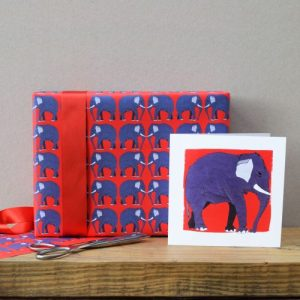 Elephant Gift Wrap – 25 sheets (Matching cards available)