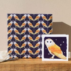 Night Owl Gift Wrap – 25 sheets (matching cards available)