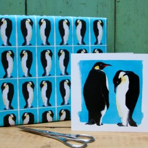 Penguins Gift Wrap – 25 sheets (Matching cards available)