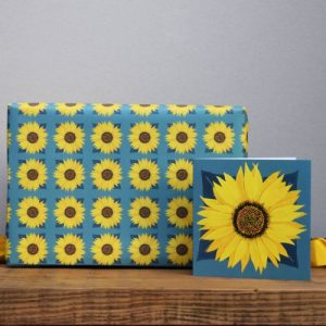 Sunflower Gift Wrap – 25 sheets (Matching cards available)