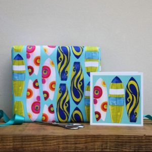Surfboards Gift Wrap – 25 sheets (matching cards available)