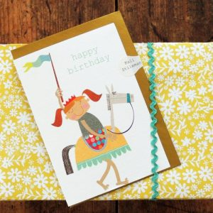 TB01 happy birthday girlie knight card