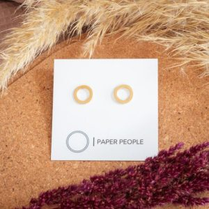 Medium Loop Earrings Gold Plated - untitled 12 500x500