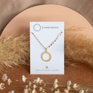 Small Loop Necklace - Gold Plated Tube Chain + Small Loop Charm - untitled 39 500x500