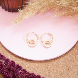 Loop and Hoop Earrings Gold Plated - untitled 43 500x500