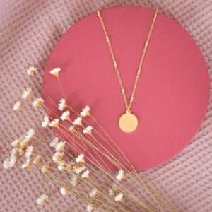 Drop Charm Necklace - Gold plated + Tube chain - untitled 76 500x500