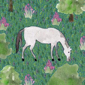 Andalusian Horse blank greeting card - white horse lifestyle2 500x500