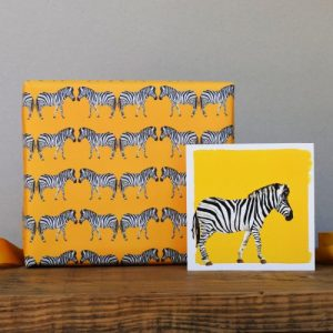 Zebras Gift Wrap – 25 sheets (Matching cards available)