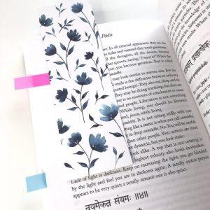 Funky Flowers Bookmark - 01 watercolour bookmark 2048x 500x500