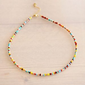 Beaded necklace mix color – BK201