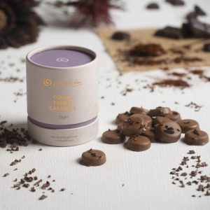 Chocolate Caramels - 0487 Caramel Tube Cocoa Nibbed Box LS 1 RGB 100dpi 1000px 500x500