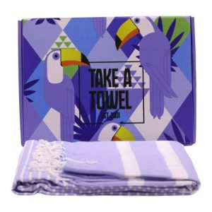 Take A Towel Hammam towel fouta 24 x Toekan Box TAT 4-A