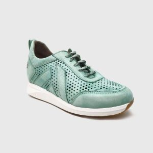 Kaeleen sneakers in turquoise leather